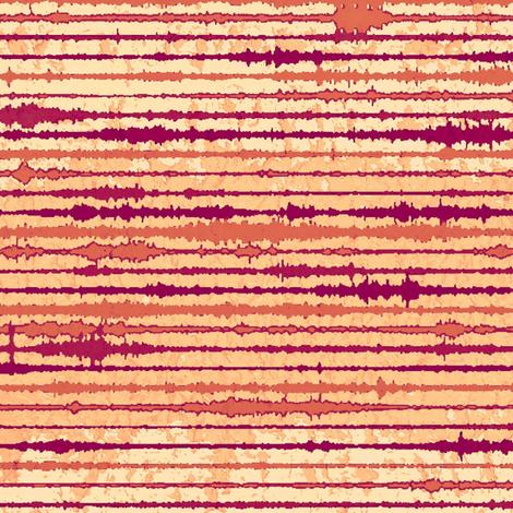 Seismic Shibori Wash - melon, paprika fabric by materialsgirl on Spoonflower - custom fabric