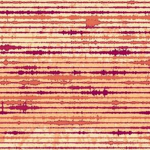 Seismic Shibori Wash - melon, paprika