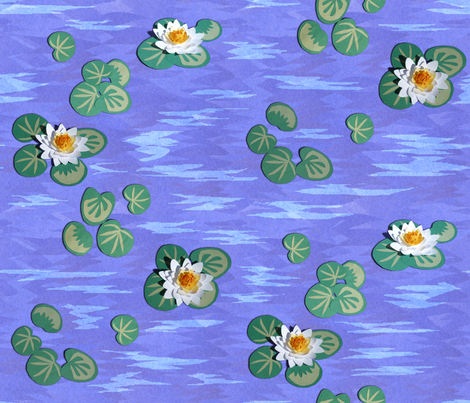 Bold_Paper_Water_Lilies_ fabric by khowardquilts on Spoonflower - custom fabric