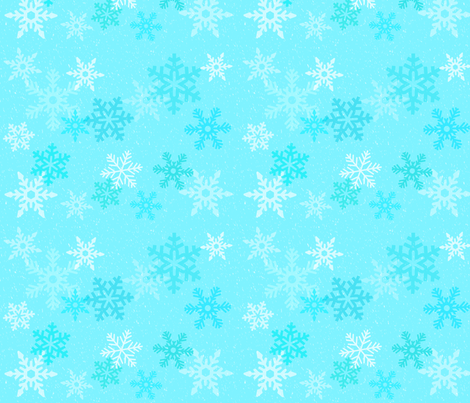 snowflakes fabric by dchukhina on Spoonflower - custom fabric