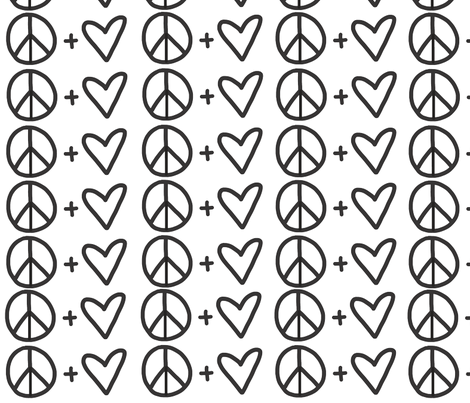 Peace & Love  fabric by posemanikin on Spoonflower - custom fabric