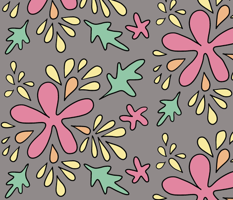 Floral Vintage fabric by macaromi on Spoonflower - custom fabric