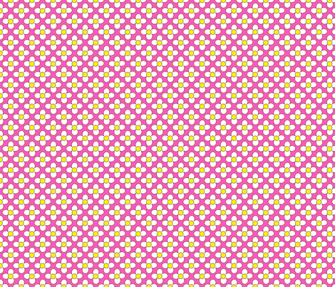 flowerword_whitehana_pink fabric by 257 on Spoonflower - custom fabric