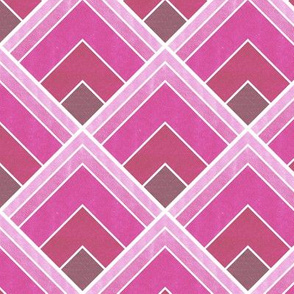 Ombre Pink Art Deco Fan Pattern