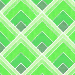 Ombre Green Square Art Deco Pattern