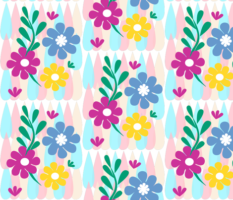 Paper-cut_Spring_Floral_Dance fabric by elen_&_lissa on Spoonflower - custom fabric
