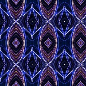 EYE DAMASK OGEE OGIVE JEWELS blue purple navy ndigo