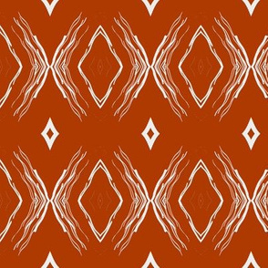 STYLIZED BUTTERFLIES DIAMONDS burnt orange