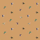 Hummingbirds ditsy