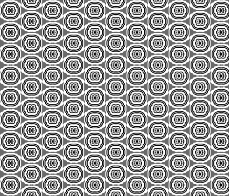 Meggy Peg - black n white  fabric by franbail on Spoonflower - custom fabric