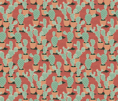Spotted Potted fabric by seesawboomerang on Spoonflower - custom fabric