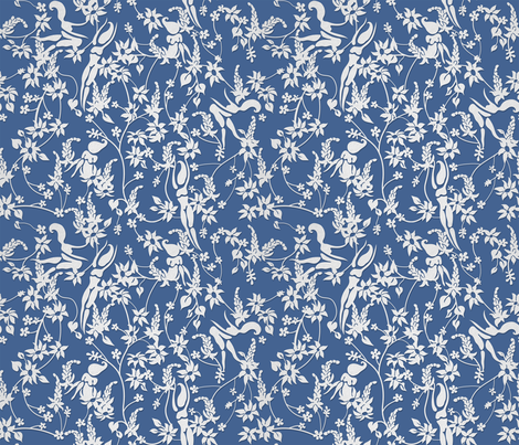 Papercut Garden - Small fabric by joanandrose on Spoonflower - custom fabric