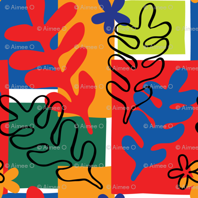 Matisse Cut Out Inspired Floral Foliage