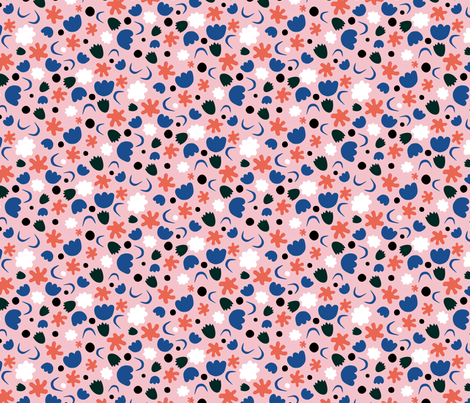 Bold_Floral_Cutout fabric by cynthiajacquette on Spoonflower - custom fabric