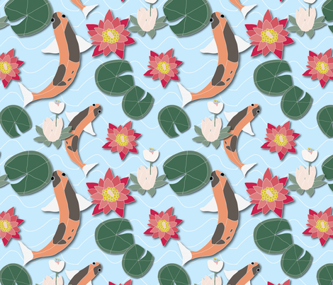 Lilly pads fabric by cathleenbronsky on Spoonflower - custom fabric
