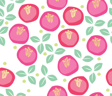 MatisseFlowers-print fabric by melhales on Spoonflower - custom fabric