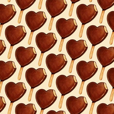 Heart Ice Cream fabric by kellygilleran on Spoonflower - custom fabric