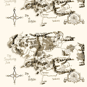 Middle Earth Map by Deven Rue