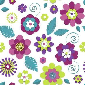 Floral cut paper