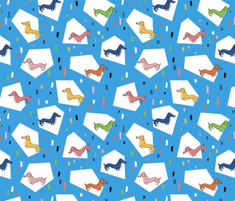 Retro Weiners fabric by natalee_wegmann on Spoonflower - custom fabric