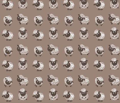 Doodle Sheep fabric by matildamoose on Spoonflower - custom fabric