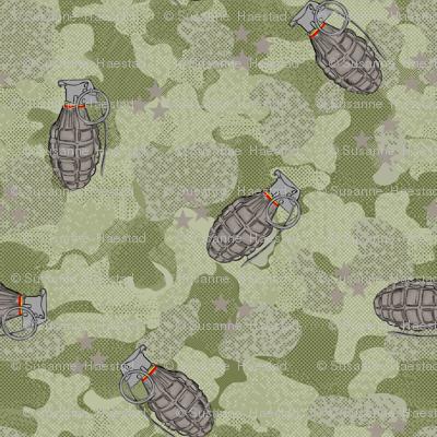 Grenades military green