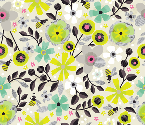 Paper Garden fabric by cynthiafrenette on Spoonflower - custom fabric