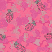 Pink grenades on pink camo