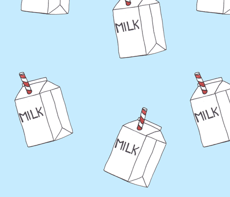 Milk Cartons fabric by leahfayegaeddert on Spoonflower - custom fabric
