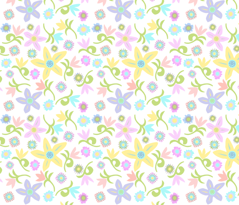 Matisse Spring Tulips fabric by palifino on Spoonflower - custom fabric