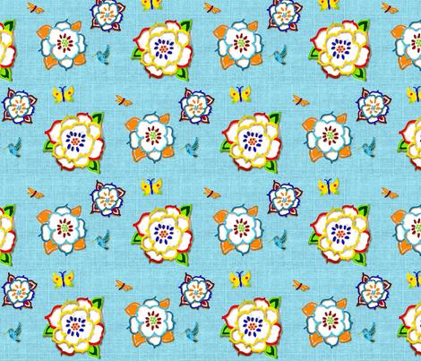3d_flower fabric by katawampus on Spoonflower - custom fabric
