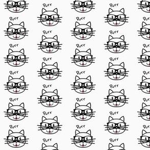 Purr-fect (cat) / Black & White