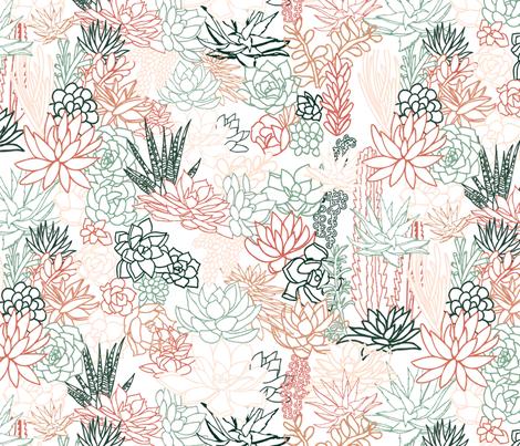 Succulent fabric by lprspr on Spoonflower - custom fabric