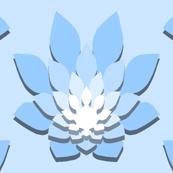 flame-flower paper shadow : azure blue