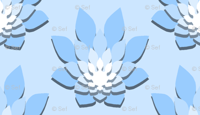 06307373 : flame-flower shadow : azure blue