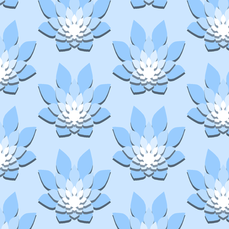 06307373 : flame-flower shadow : azure blue fabric by sef on Spoonflower - custom fabric