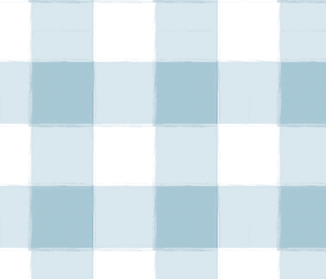 Large Light Blue Buffalo Check Gingham fabric by sugarfresh on Spoonflower - custom fabric