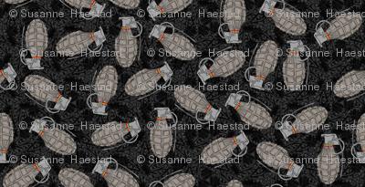Grenades on black