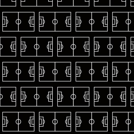 Soccer Field in Black fabric by palifino on Spoonflower - custom fabric