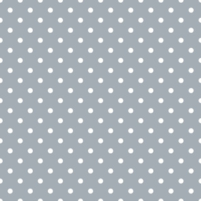 Grey Mist and White Polka Dots