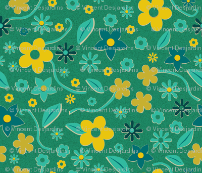 Cut Paper Flowers Green
