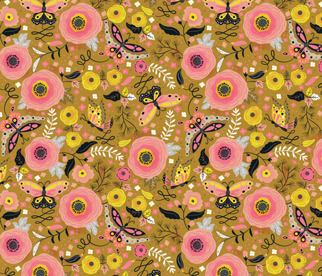 Butterfly Blossom fabric by cynthiafrenette on Spoonflower - custom fabric