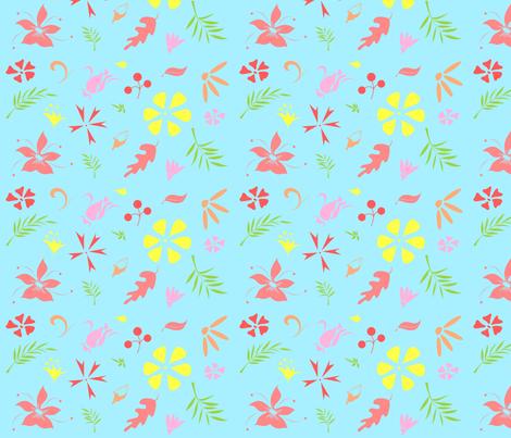 Floral Fun fabric by mango606 on Spoonflower - custom fabric