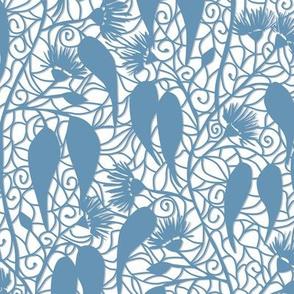 Eucalyptus paper cut floral