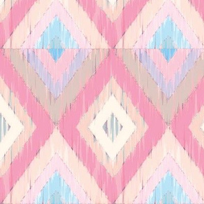 Ikat Diamonds in Pinks