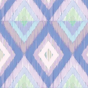 Ikat Diamonds in Blue Violets