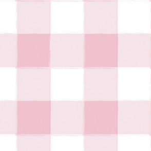 Large Azalea Pink Buffalo Check Gingham