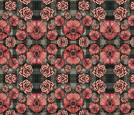 camoplaidflowers fabric by tiffanyagam on Spoonflower - custom fabric