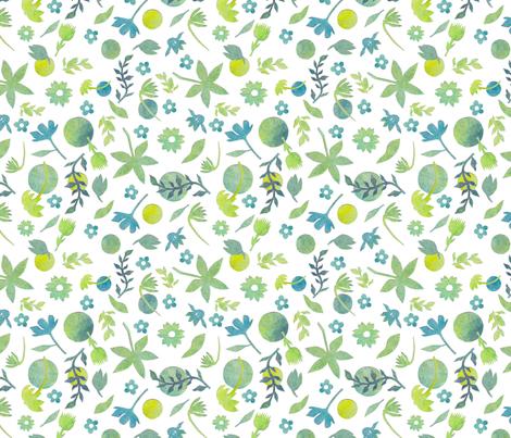 Cut Flowers fabric by awikegard on Spoonflower - custom fabric