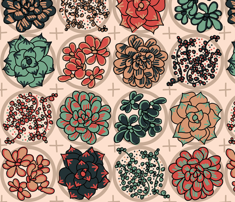 Succulent fabric by stephloren on Spoonflower - custom fabric